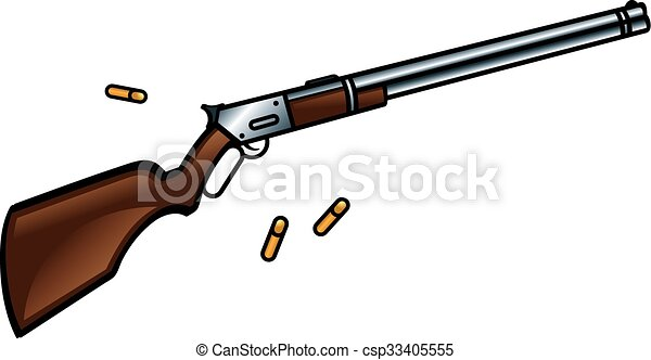 winchester rifle gun winchester rifle is a gun for true cowboys rh canstockphoto com rifle clip art images sniper rifle clipart