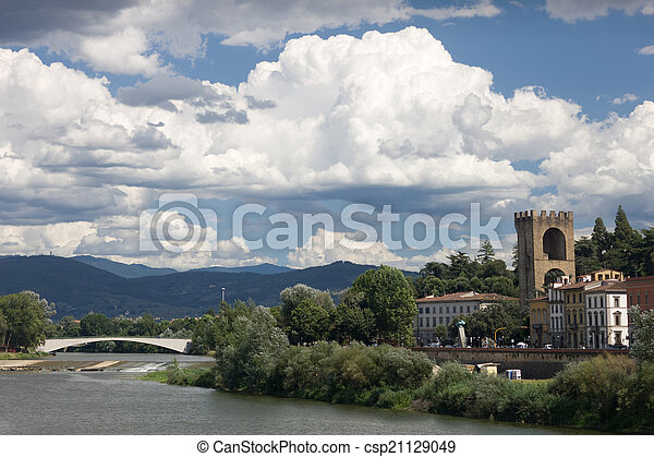 Wind above the river in Florence - csp21129049