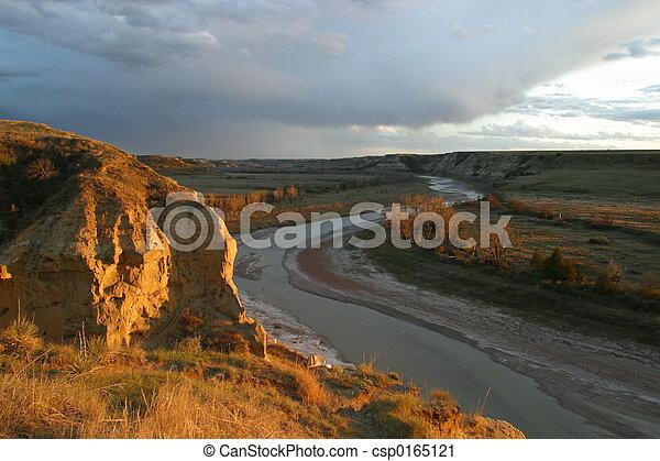 Wind Canyon Sunset - csp0165121
