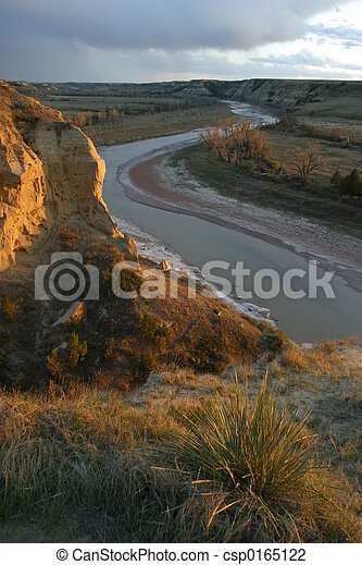 Wind Canyon Sunset - csp0165122