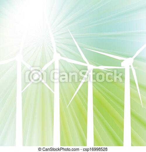 Wind generator vector background - csp16998528