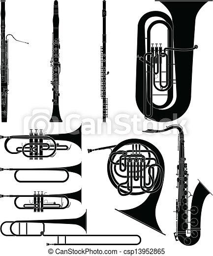 Wind Instruments - csp13952865