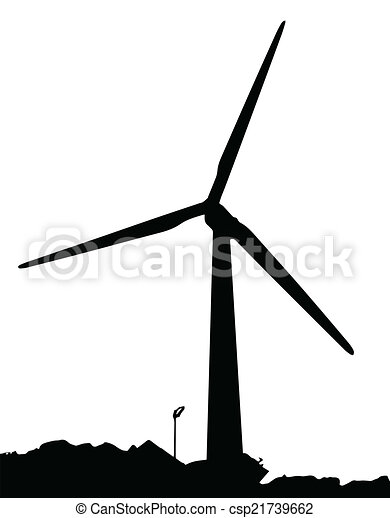 a wind powered generator on a white background clip art vector rh canstockphoto com