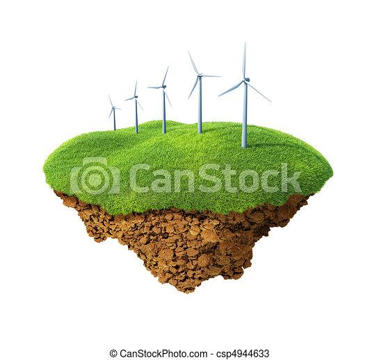 Wind power station mills - csp4944633