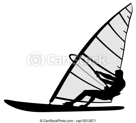 Wind surfing - csp15512671