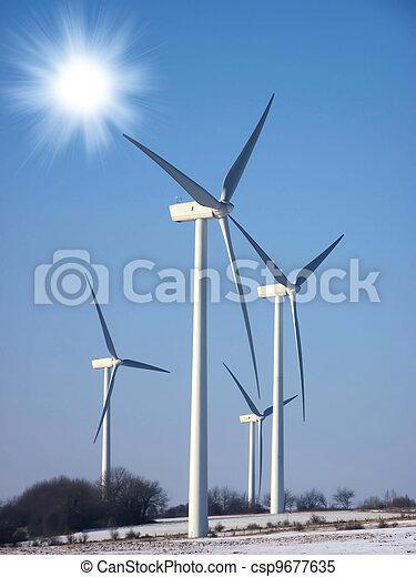 wind turbine in the sun - csp9677635