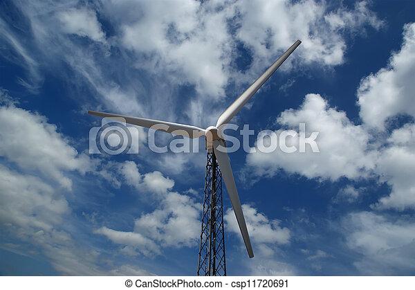 Wind turbines farm - alternative energy source - csp11720691