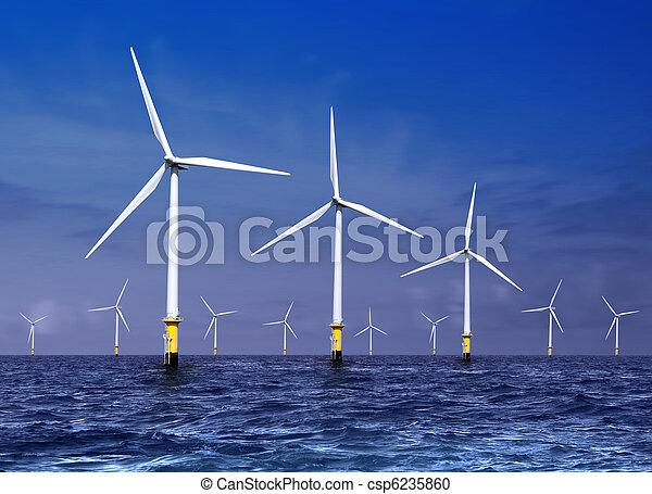 wind turbines on sea - csp6235860