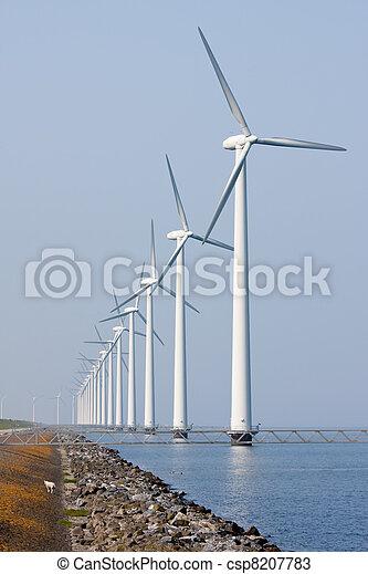 wind turbines, zee, voor de kust, hollandse - csp8207783