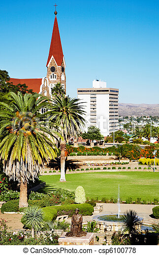 Windhoek capital of Namibia - csp6100778