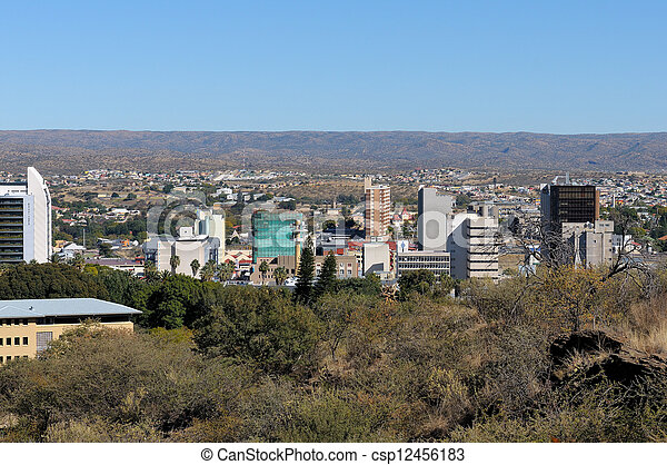 Windhoek cityscape - csp12456183