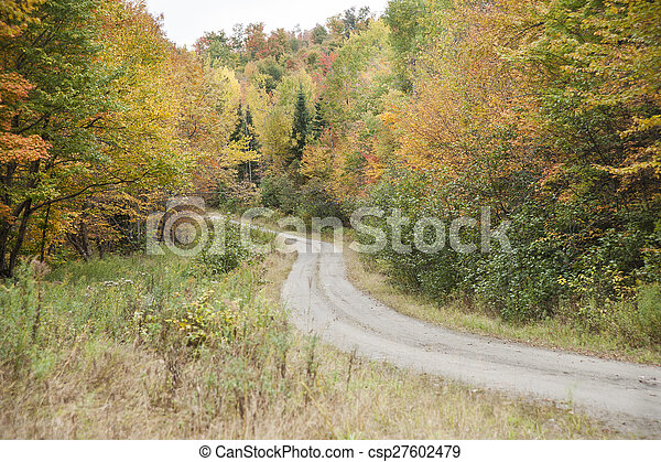 Winding dirt road - csp27602479