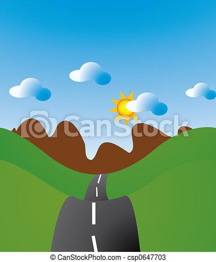 Winding Road - csp0647703