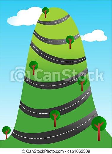 Mountain Road Clip Art