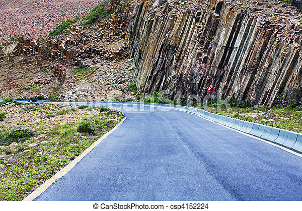 Winding road in mountains - csp4152224