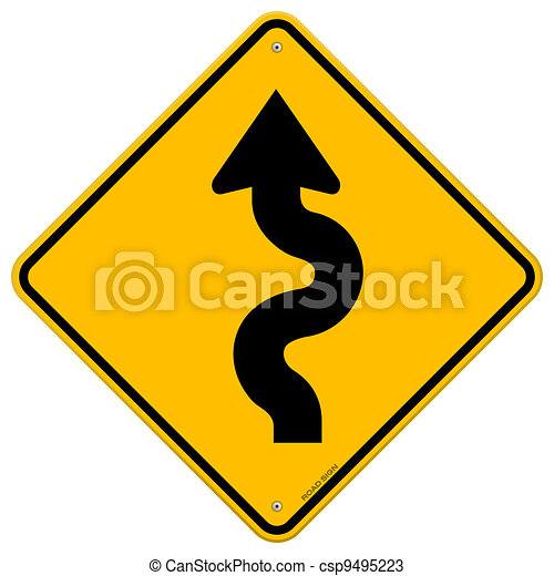 Winding Road Sign - csp9495223