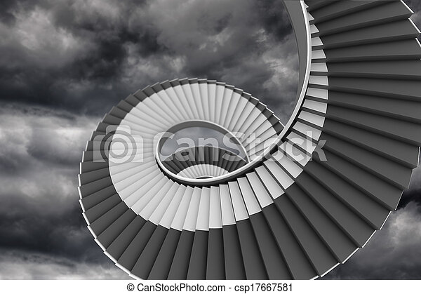 Wonderful Winding Staircase In The Sky   Csp17667581