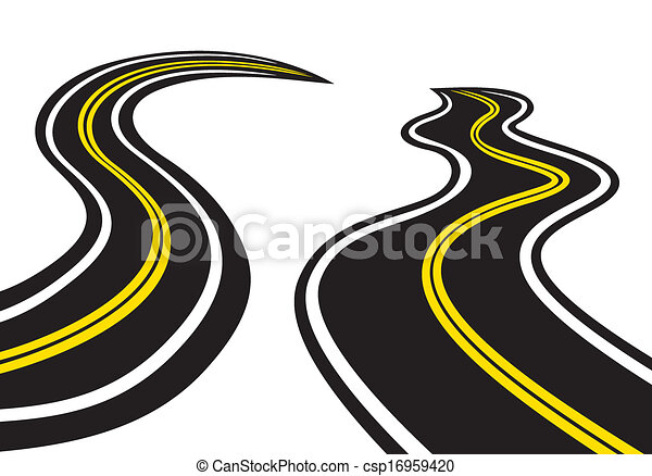 Winding trace of the tires  - csp16959420