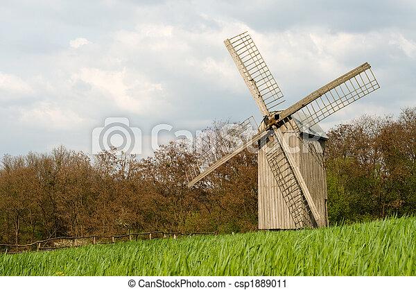 windmühle, altes  - csp1889011