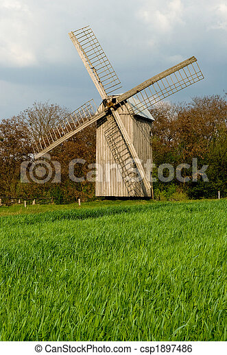 windmühle, altes  - csp1897486