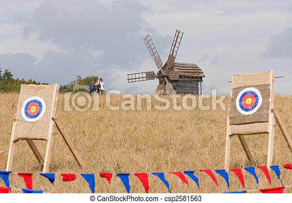 windmühle, altes , ziel - csp2581563