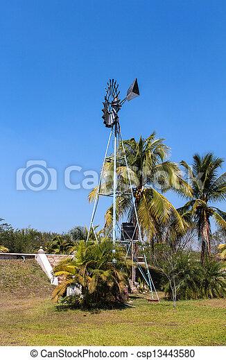 windmühle, feld - csp13443580