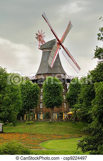 Windmill in Bremen, Germany - csp9224497