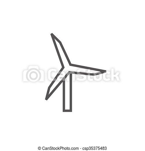 Windmill line icon. - csp35375483