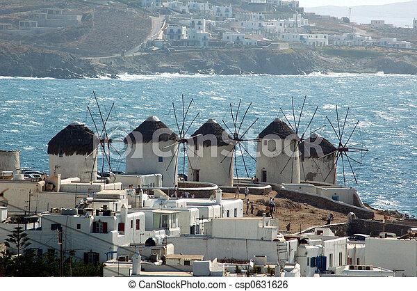 Windmill on the Greek isl - csp0631626