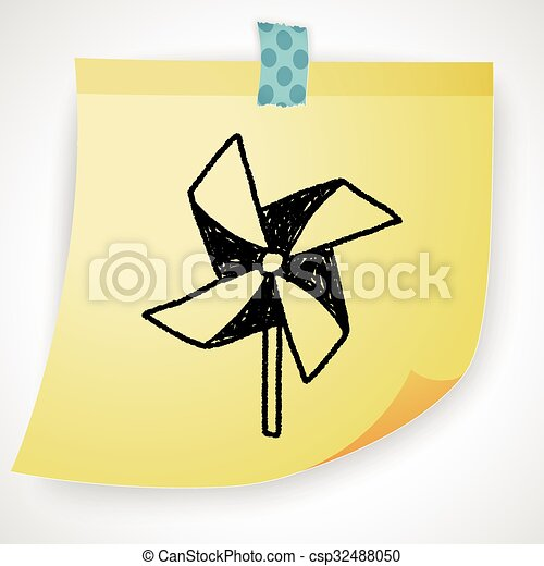 windmill toy doodle - csp32488050