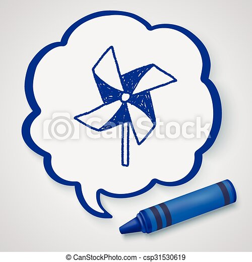 windmill toy doodle - csp31530619