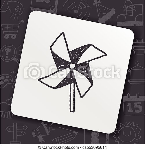 windmill toy doodle - csp53095614