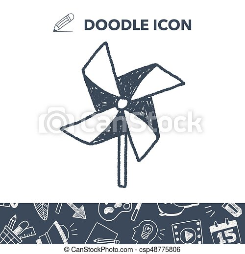 windmill toy doodle - csp48775806