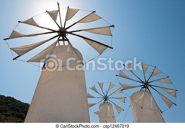 Windmills. Crete - csp12467019