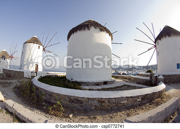 windmolen, mykonos - csp0772741
