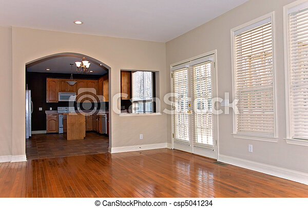 Window Blinds in Remodeled House - csp5041234