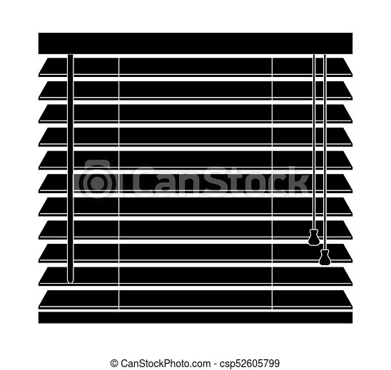 Window Blinds Vector Icon Isolated On A White Background