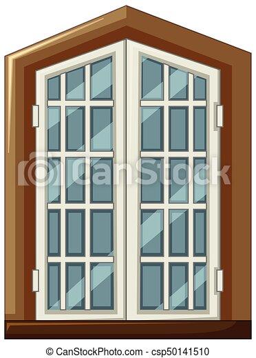 Window design with wooden frame - csp50141510