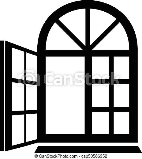 window frame icon simple black style window frame icon simple