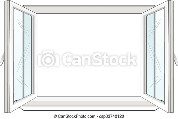 white window frame isolated on white background vector illustration rh canstockphoto ca free window frame clipart window frame clipart picture