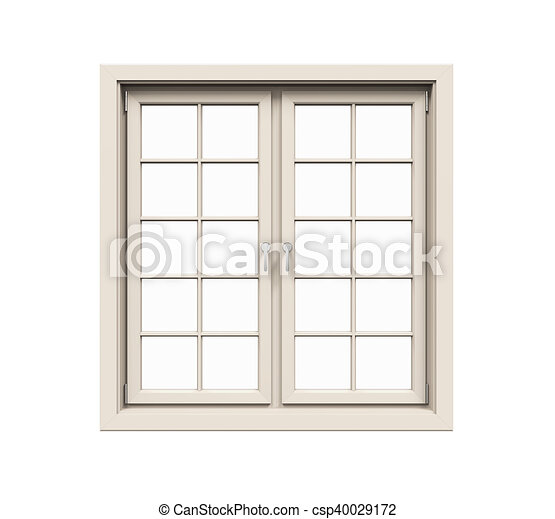 Window frame isolated on white background. 3d render stock ...