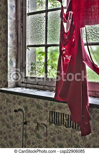 Window in abandoned house - csp22906085