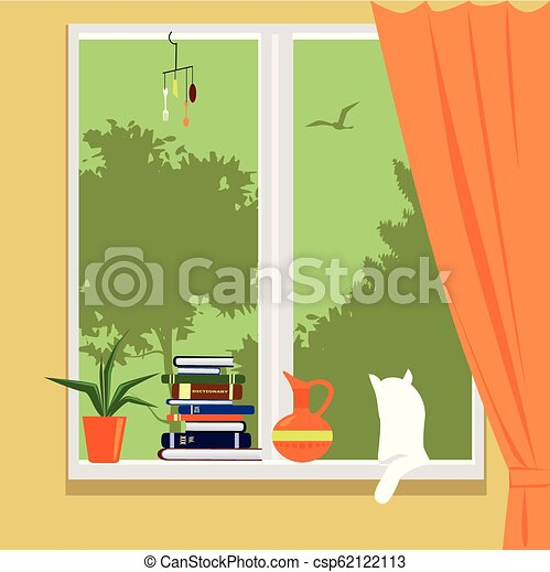 Window of a private house - csp62122113