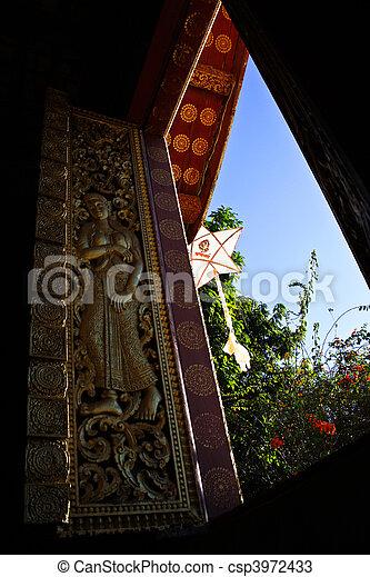 Window of temple - csp3972433
