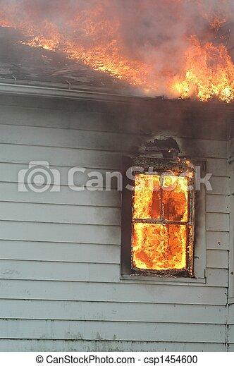 Window on Fire - csp1454600