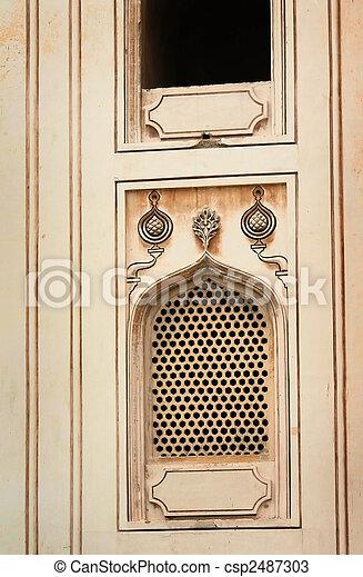 Window on historic charminar - csp2487303