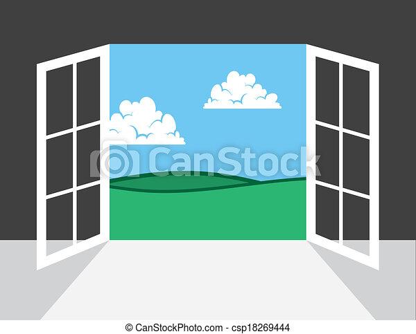 Window or Door To Outside - csp18269444