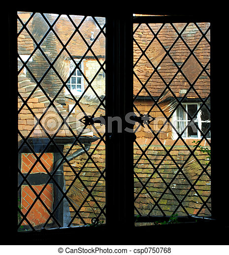 window pane old england