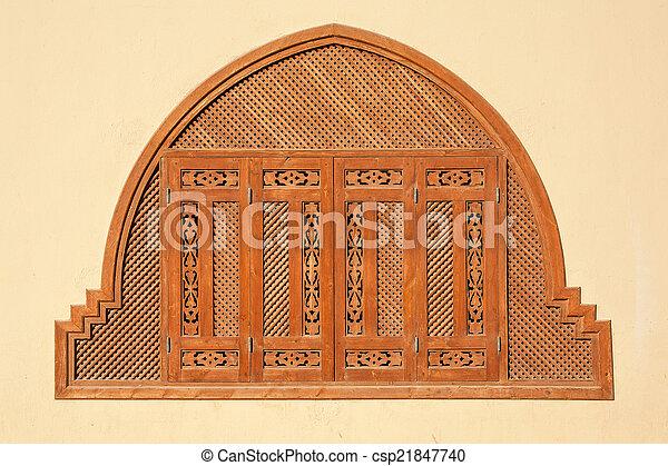 Window shutters. Egypt - csp21847740