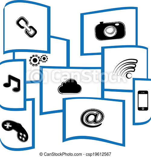 Window social media - csp19612567